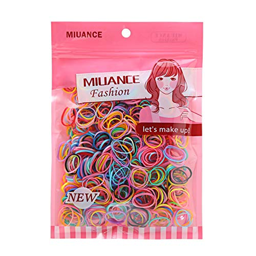 Multi Candy Color Baby Girl's Kids Hair Holder Hair Ties Elastic Rubber Bands,1000pcs