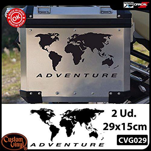 Custom Vinyl Pack 2 Pegatinas Globo Adventure Cofre R GS ADV (Negro)
