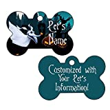 Nightmare Before Christmas Double Sided Pet Id Dog Tag Personalized with 4 Lines of Text (Zero)