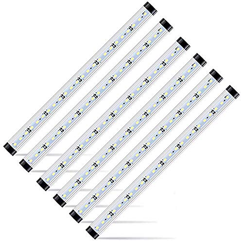 "LED Safe Lighting Kit, 4 PCS 13.8"" Light Bars per Kit, Dimmable Remote Control Switch, for Under Cabinet Lighting, Locker, Closet, Shelf Lighting. (Pure White(6000K), 4 Kit)"