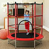 5ft Inch Kids Trampoline for 3-7 Year Old Toddlers (No Spring Hooks, Less Hurt), Small Trampoline...