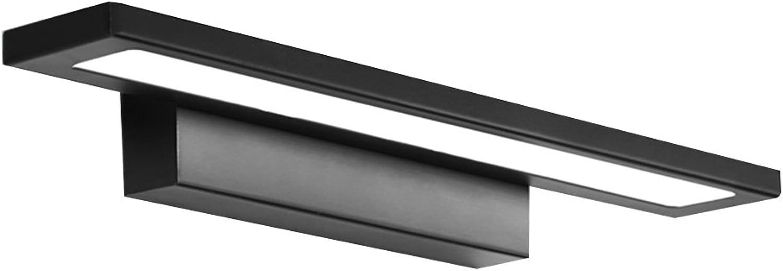 Aglia UK Kreative Mode LED Spiegel Scheinwerfer Schminktisch wasserdicht Bad Bad Bad Wandleuchte Einfache Feuchtigkeitsfeste Spiegel Schrank Beleuchtung ( Farbe   Schwarz-38cm16W )