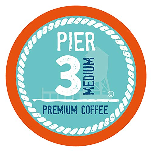 Pier 3 Medium Roast Coffee Pods, Compatible with 2.0 K-Cup Brewers, 100 Count