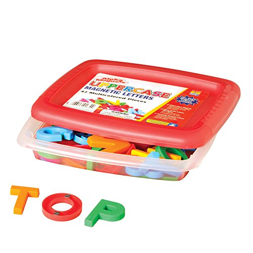 Educational Insights Multicolored Uppercase AlphaMagnets , Set of 42 Uppercase Letters: Perfect for Homeschool & Classroom, Ages 3+