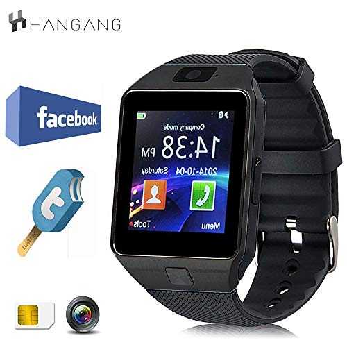 Hangang Smartwatch Bluetooth Intelligente Uhr 1.56 Touch Screen TFT LCD Schrittzähler Touchscreen Smart Watch Android Jogging Running Sport DZ09
