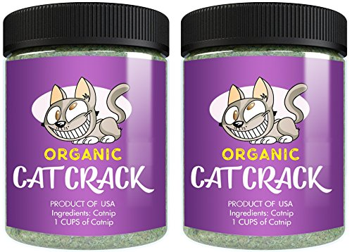 Cat Crack Organic Catnip, Premium Blend Safe for Cats, Infused with Maximum Potency Your Kitty is Sure to Go Crazy for (2 Cups)