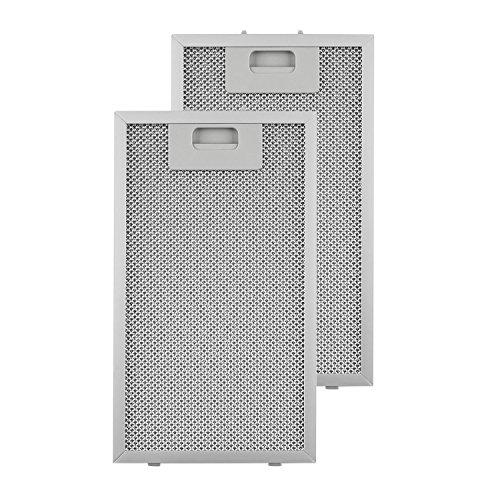 Klarstein Aluminium-Fettfilter - Austauschfilter, Ersatzfilter, 2 x Filter, Klickverschluss, 18,5 x 31,8 x 0,9 cm, ca. 145g, Aluminium, für Klarstein Lorea Dunstabzugshauben, silber