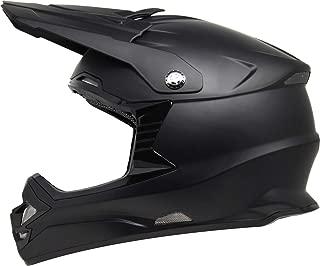 GDM DK-630 Motocross Full Face Offroad Dirt Bike MX Motorcycle Helmet - Matte Black, XL
