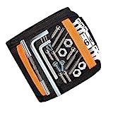 DASFOND Bracelet Magnétique, 15 Puissants Aimants Forts Magnet Arm Band pour les Vis de Maintien, Clous, Vis, Ciseaux, Trépans de Forage, Best Tool Cadeau pour Bricoleur Handyman