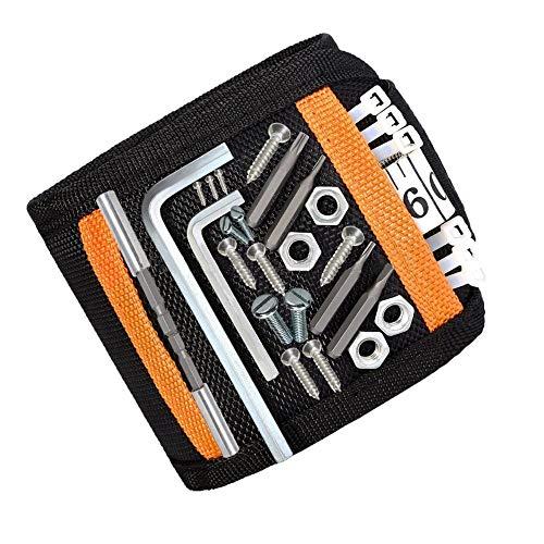 DASFOND Magnetisches Armband,Magnetarmband für Handwerker Geschenke, Einstellbare Magneten...