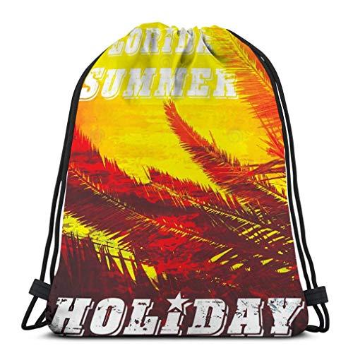 Kordelzugbeutel Kordelzug Rucksack Turnbeutel Florida Grunge Vintage Typografie drucken Poster Banner Flyer Postkarte Modestil Beutel 36X43CM