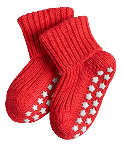 FALKE Babys Socken Catspads Cotton, 96% Baumwolle, 1 Paar, Rot (Fire 8150), Größe: 80-92