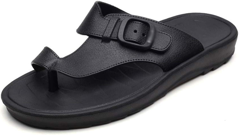 FELICIOO Flip-Flops atmungsaktive, rutschfeste Schwarze Strandschuhe für Herren