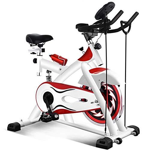 Bicicletta da Spinning per Fitness Indoor Il volano 10kg azionato da Una Cinghia for Cyclette Indoor è Usato for la Famiglia Esercizio aerobico Bike Training Continua a Muoverti