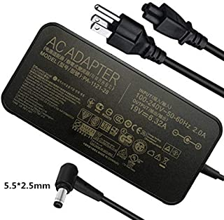 19V 6.32A 120W AC Adapter Charger for Asus ROG GL551J GL552VW GL553V GL752VW GL753VE N550JK N550JX ZX53VW FX53VD N53 G56JK N56JR N56JN VivoBook Q550 Q550L Q550LF X550 X750J X750JA PA-1121-28 A15-120P1
