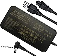 120W AC Adapter Compatible Asus Laptop Charge A15-120P1A PA-1121-28 ROG GL551J GL552VW GL553V GL752VW GL753VE N550JK N550JX ZX53VW FX53VD G56JK N56JR N56JN VivoBook Q550 Q550L X550 X750J X750JA Laptop