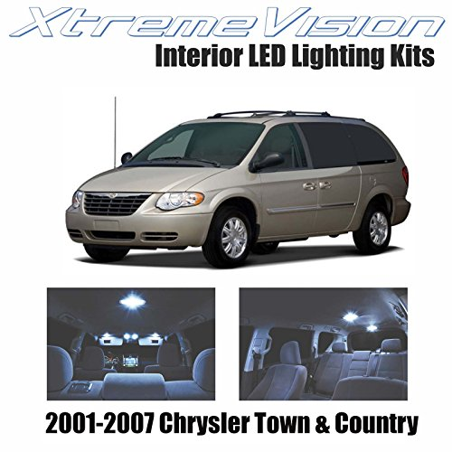 XtremeVision Interior LED for Chrysler Town & Country 2001-2007 (16 Pieces) Cool White Interior LED Kit + Installation Tool