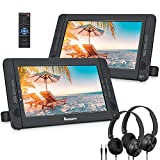 NAVISKAUTO 10.5' Dual Screen DVD Player with HDMI Input, Portable DVD...