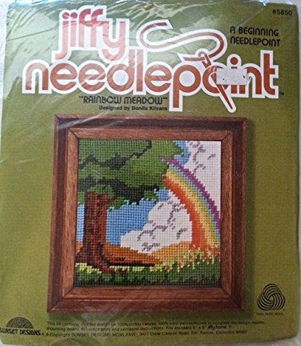 Sunset Jiffy Needlepoint Rainbow Meadow Kit #5850