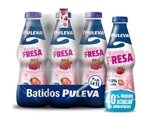 Puleva Batido Fresa - Paquete de 6 x 1000 ml - Total: 6000 ml