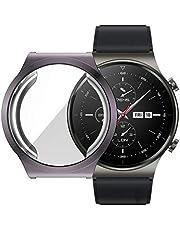 Huawei Watch GT2 PRO 360 Derece Kasa ve Ekran Koruyucu GRİ KOYU