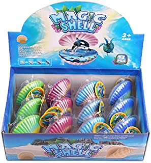 GracesDawn 12pcs Novelty Magic Hatching Shell Hatched sea Animal Shell Hatching Shell Sea Creatures Novelty Grow Shells Expanding Sea Life Toys