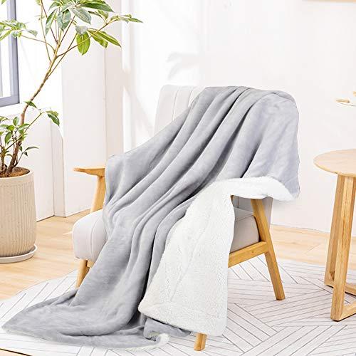 i@HOME Kuscheldecke Grau 150x200 cm,OekoTex weiche& warme Fleecedecke Kuscheldecke, flauschig und plüsch Fleecedecke als Sofadecke Couchdecke Wohndecke