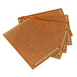 Dynamovolition 10PCS / Pack Prototype Paper Impreso PCB Placa de Circuito Panel Single Side Universal Strip Breadboard para Soldadura DIY