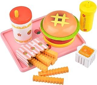 Toyvian プレイフードセットバーガーチップスファーストフード料理プレイセットふり食品おもちゃ教育玩具キッズ子供女の子男の子誕生日プレゼント