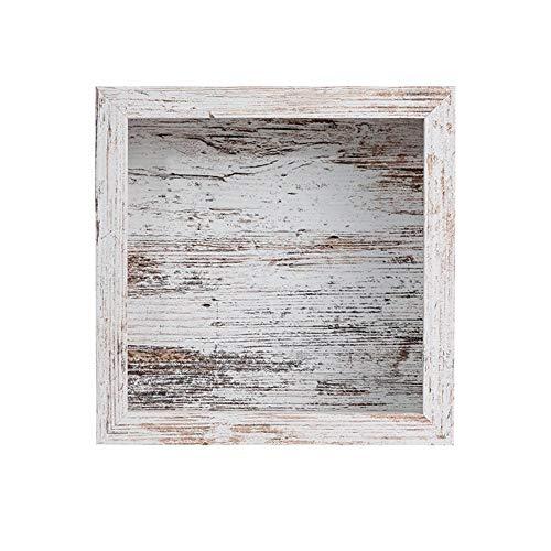 3D Holz Bilderrahmen Zum Befüllen Tiefe Box Objektrahmen Wandbefestigung Umweltfreundlicher Vintage Look Familienfotorahmen Desktop 23 X 23 X 6 Cm