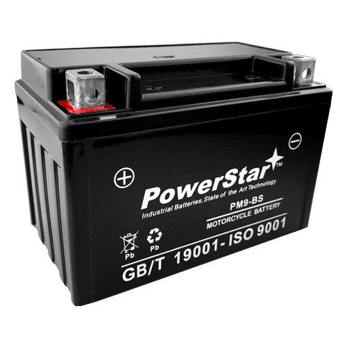 PowerStar Sealed GEL Battery YTX9-BS for 2003–2010 Suzuki ATV LTZ400 250 QuadSport