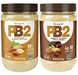 PB2 Powdered Peanut Butter Bundle - Original PB2 and Cocoa PB2 Peanut Butter Powder (Two 16oz Jars)