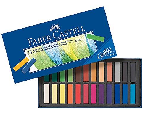 FABER-CASTELL Creative Studio - Tizas pastel blandas (24 unidades, estuche de 24 unidades)