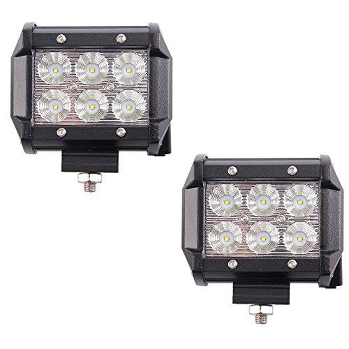 MCTECH 2 x 18W/ 36W Cree LED Arbeitslicht 3600LM 6000K Offroad Flutlicht Reflektor Scheinwerfer Arbeitsscheinwerfer IP67 für SUV UTV ATV (2X18W)
