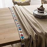 XQSSB Mantel Impermeable para Banquetes Boda Recepciones Grueso Duradero Formal o Informal Celebrations y Eventos Marrón 140 × 160cm