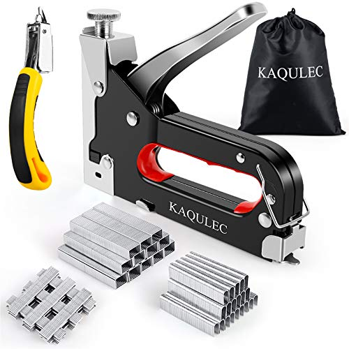 Staple Gun, 3 in 1 Staple Gun Kit with 3000 Staples and Stapler Remover Adjustable Heavy Duty Stapler for Wood Upholstery Crafts Cable Fixing Material Furniture Decoration