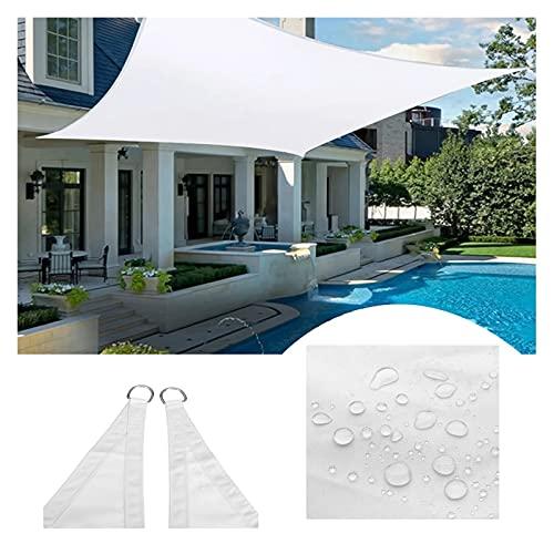 KLZOLR Toldo Vela De Sombra Solar Jardín Patio Forma Cuadrada Blanca Impermeable Protección Rayos UV,Tamaño Personalizado (Size : 3x5m)