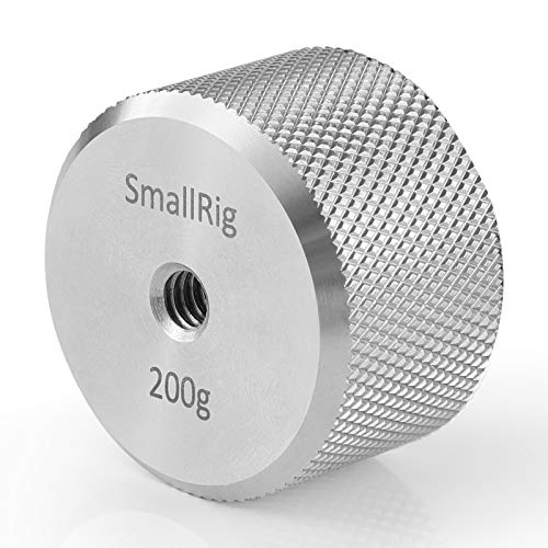 SMALLRIG Extraíble Counterweight Contrapeso Compatible con dji Ronin S y Zhiyun Gimbal, Contrapeso de 200g con 1/4 Tornillo - AAW2285