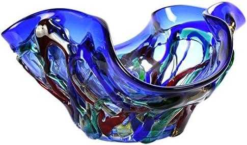 Centro de mesa Blue Sombrero - Estilo Sbruffy - Cristal de Murano original