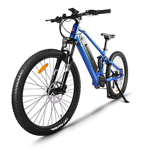 Accolmile Bicicleta de montaña eléctrica de 27,5 Pulgadas, Motor Central eléctrico BAFANG 48V 750W, con batería de Litio actualizado de 17,5 Ah, Shimano 9