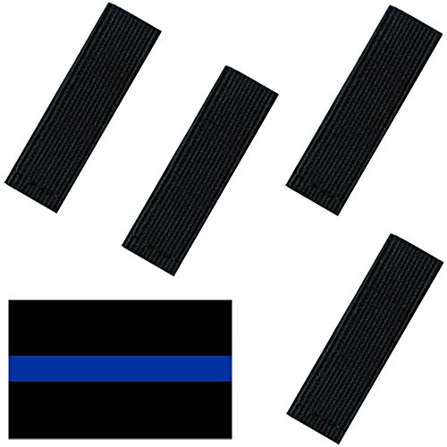 Mourning Bands For Badges - Black Elastic Mourning Bands - Funeral Honor Bands - 4 Pack