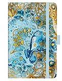 Premium Timer Small Liquid Art - Kalender 2021 - Korsch-Verlag - Taschenkalender A6 mit Stifthalter, Lesebändchen und Zetteltasche - eine Woche auf 2 Seiten - Buchkalender 8,8 cm x 13,8 cm