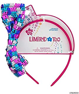 Limited Too Girls Hair Accessories - Multicolor Sequin Bow Headband