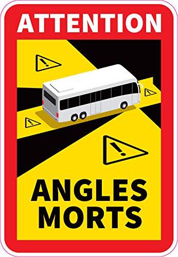 Safimes 3 Aufkleber für toten Winkel, schwer, offiziell, selbstklebend, für Bus