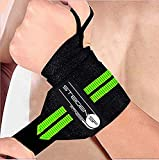 STEIGEN FITNESS Boxing Crossfit Calisthenics Weight Lifting Powerlifting Weightlifting Push ups Pain Relief Wrist Wraps/Belt Combo and Gym Band Brace with Thumb Loop for Workout Men