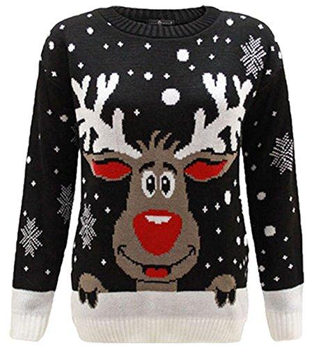 Fashion Oasis dames nieuwigheid Kerstmis Xmas Jumpers Olaf Rudolph Rendier, Santa Snowmen Truien Verkrijgbaar in maten S/M UK Maat 8/10, M/L UK Maat 12/14 & L/XL UK Size