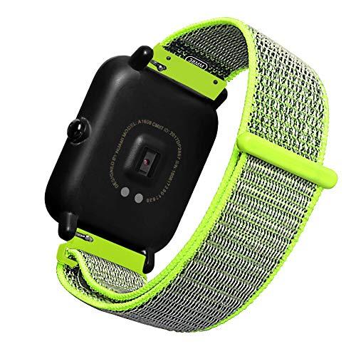 Saisiyiky Cinturino in Tela Wrist Watch per Xiaomi Huami Amazfit Bip Orologio per Ragazzi