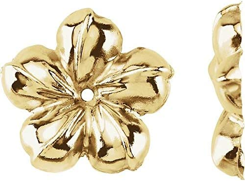 14K Yellow Gold Floral-Inspired Earring Jackets Floral-Inspired Earring Jackets
