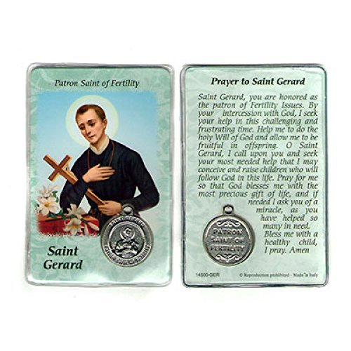 St. Gerard Prayer Card Holy Card Cards Patronage Patron Fertility with Medal