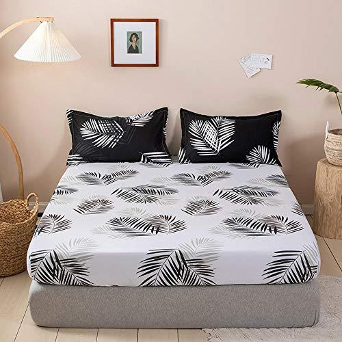 XGguo Protector de colchón - cubrecolchón Transpirable Sábana lijada a Prueba de Polvo de una Sola pieza-16_180 * 220cm